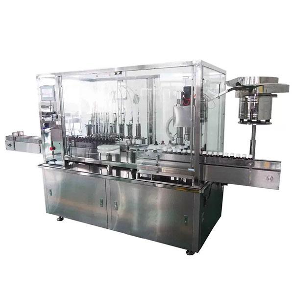 Máquina de enchimento e tampando automática do xarope de 8 cabeças para a linha de produção farmacêutica